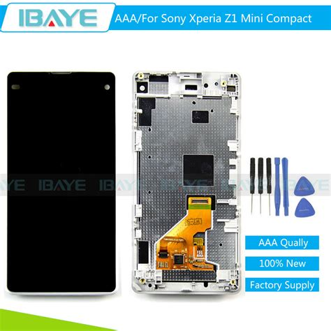 Sony Xperia Z1 Mini Compact Lcd Touchscreen Whit Murah aliexpress buy aaa quality for sony xperia z1 mini
