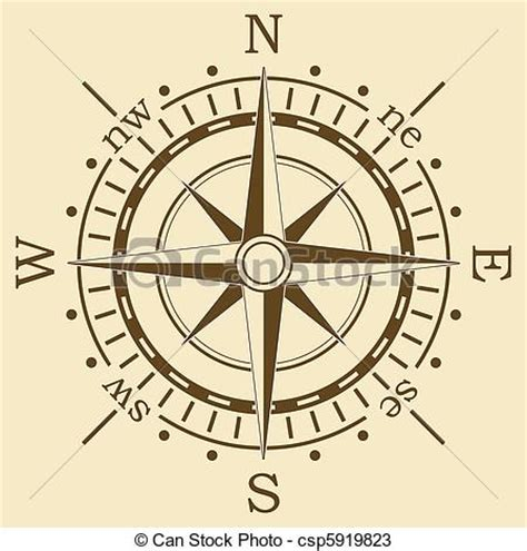 vector brown compass vectors search clip art