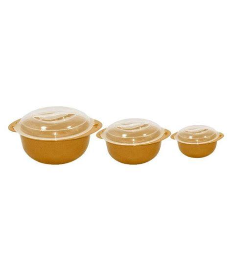 Plastic Bowl Small Brown raj brown plastic bowl set of 3 buy at