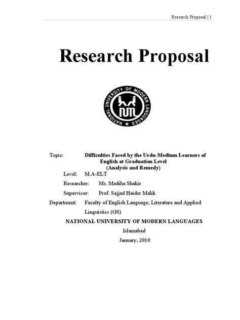 research proposals research
