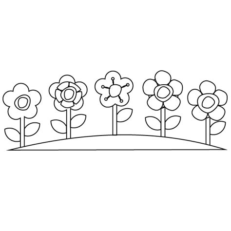 Flower Garden Coloring Pages Flower Garden Coloring Page