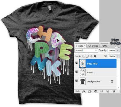 design baju psd design kaos t shirt di photoshop tutorial design kaos t