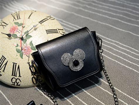 jual tas selempang rantai mickey kecil tali hitam cantik wanita bahu the logos