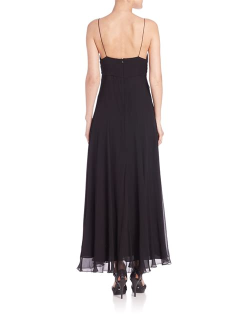 Dress Polos 2 polo ralph silk ruched detail maxi dress in black lyst