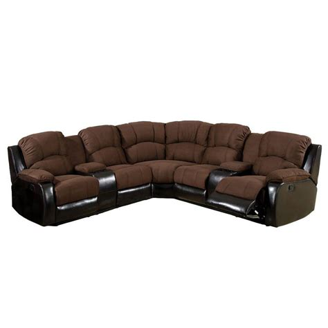 brown microfiber sectional furniture of america wolcott brown elephant skin