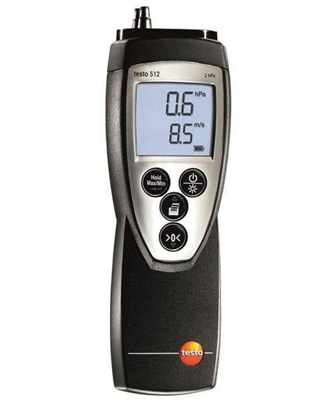 pressure testo testo 512 pressure and flow velocity measuring