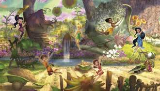 jl1279mdisney fairies pixie hollow pre pasted xl wallpaper disney fairies wall mural wallpaper paste supplied allkids
