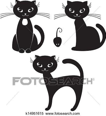 Gatto Clipart - clipart gatto nero k14951615 cerca clipart