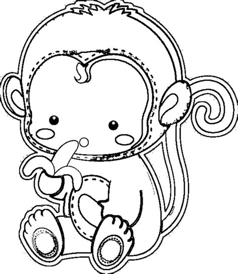 cute coloring pages to print monkey coloring pages