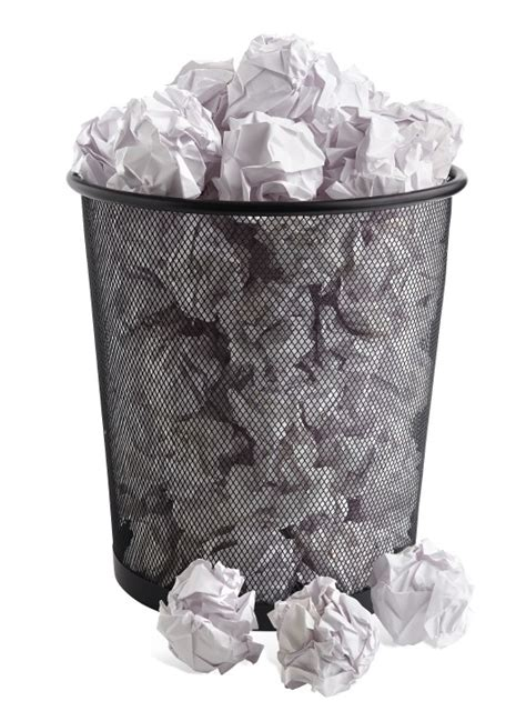 How To Make A Paper Trash Can - 9 ways to through writer s block that white paper