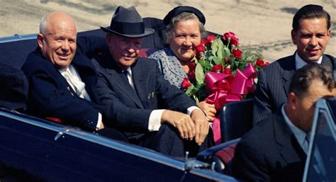 nikita khrushchev visits  united states sept