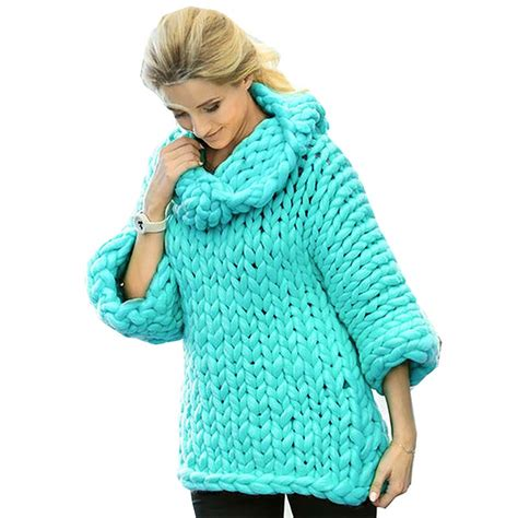 Line Color Thick Cardigan S854 winter thick coarse lines thick and warm high necked sweater winter fashion