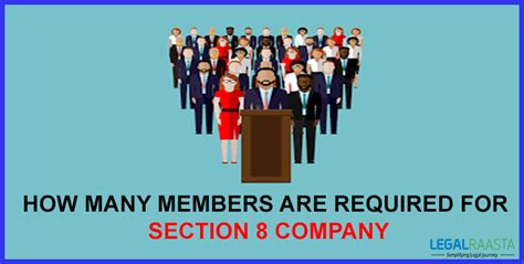 section 8 company how many members are required for section 8 company