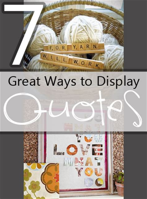 ways to display creative ways to display quotes quotesgram