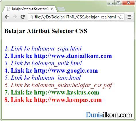 tutorial css untuk pemula pdf tutorial belajar css pengertian attribute selector dalam