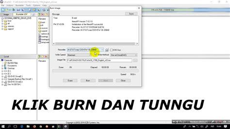 cara burn file video ke format dvd cara burning file iso ke dalam dvd r youtube