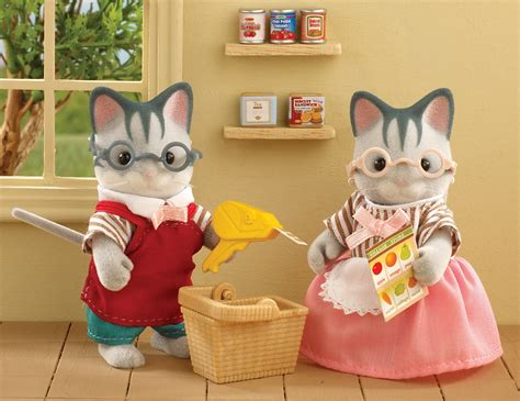 Sylvanian 2813 Supermarket Owners sylvanian families supermarket owners at mighty ape nz