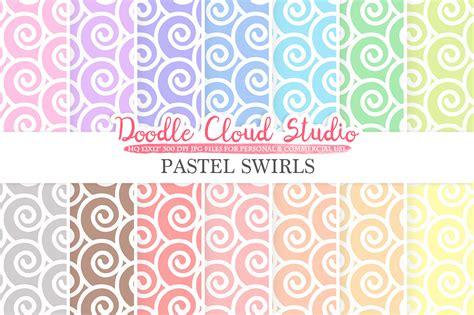 pastel patterned digital paper pastel swirls digital paper spiral pattern digital
