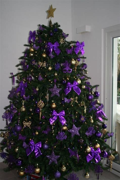 purple christmas trees christmas