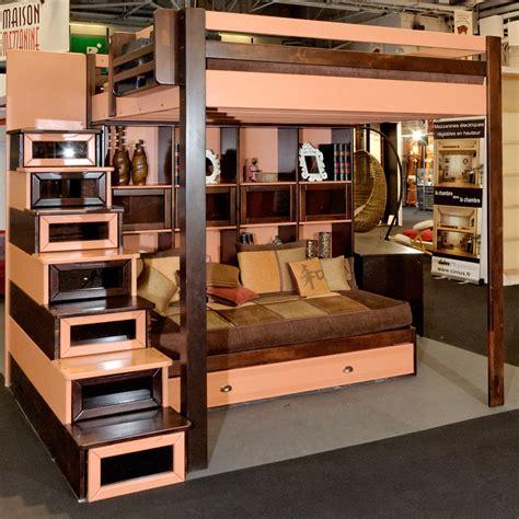 lit mezzanine pour adulte excellent escalier pour lit