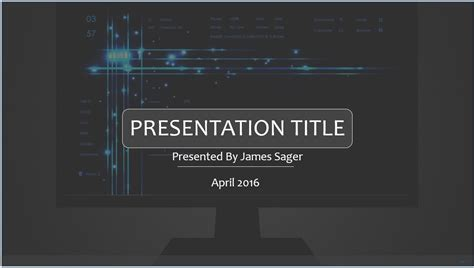 Free Technology Powerpoint Template 8461 Sagefox Powerpoint Templates Technology Powerpoint Templates Free