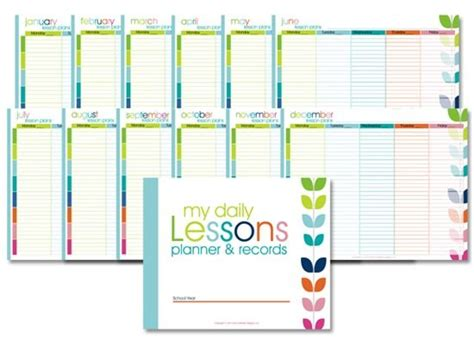 printable lesson plan organizer pin by leah mick on homeschooling pinterest