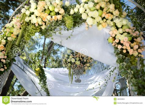 Wedding Arch No Flowers by Flower Wedding Arch Stock Photo Image 46030884