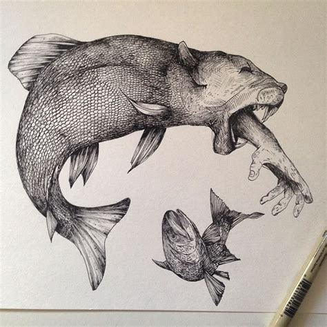 animal tattoo pen exquisite drawings by alfred basha