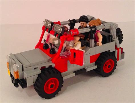 lego jurassic jeep lego ideas jurassic park quot jeep wrangler quot