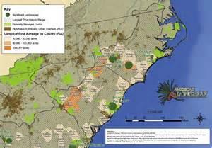 carolina resources map maps america s longleaf restoration initiative