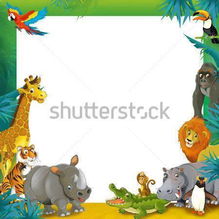 imagenes animales safari bordure de page enfant recherche google atelier pour