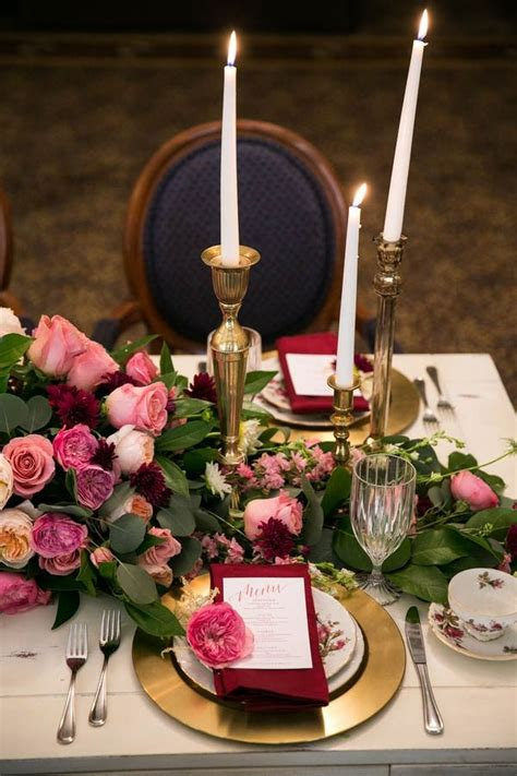 stunning table setting stunning and pink table setting with gold and navy