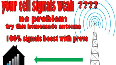 cell phone signal booster homemade cell phone antenna youtube