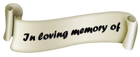 In Memory by In Loving Memory Of