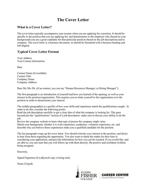 cover letter examples examples