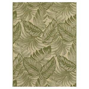 green leaf rug tropical leaves green outdoor rug threshold target