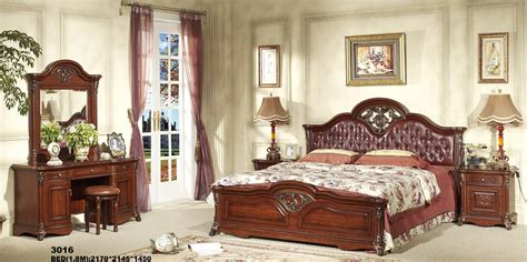china european wooden antique home furniture bedroom set