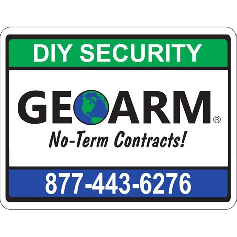 Home Security Signs by Geoarm Home Security Yard Sign