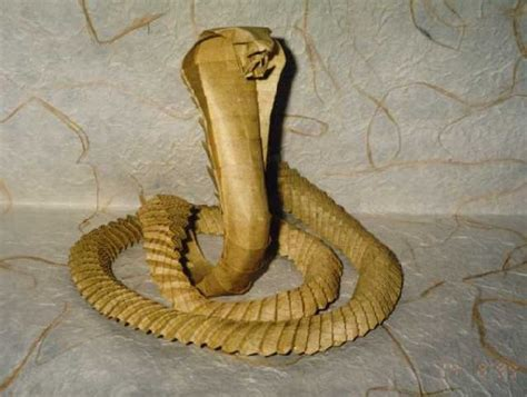 Origami Cobra - origami snake