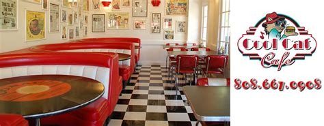50s Home Decor by Welcome To The Cool Cat Cafe Home Of The Best Burger On