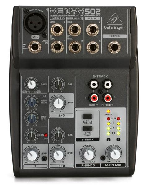 Mixer Behringer Xenyx 502 behringer xenyx 502 sweetwater