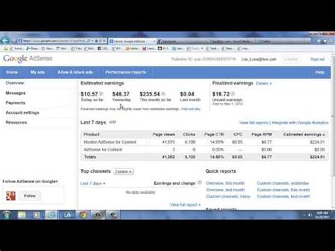 adsense to youtube how to make money with google adsense youtube