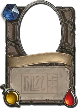 hearthstone gold card template blizzcon mystery minion template images hearthpwn