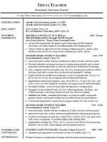 Elementary school teacher resume templates free resume templates