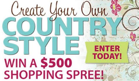 Sweepstakes Magazine Subscriptions - country sler s discover your own country style giveaway