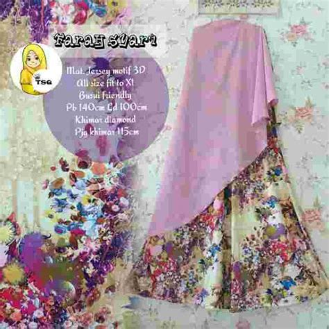 Syari Mawar Tosca gamis modern farah syari b007 baju muslim cantik