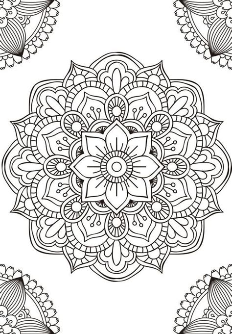 lotus mandala coloring page 409 best images about colouring adults on pinterest