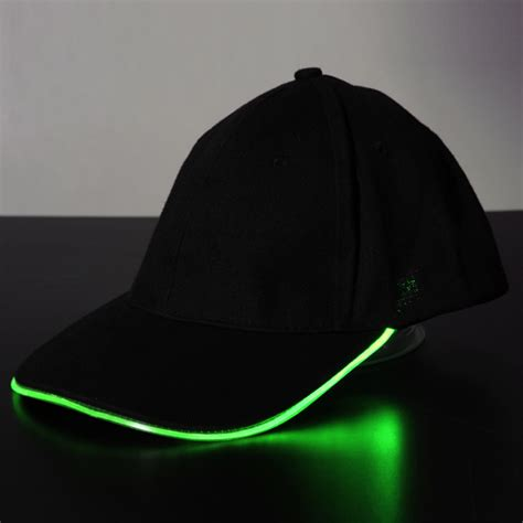 beanie hat with led light led light glow club party sports athletic black fabric