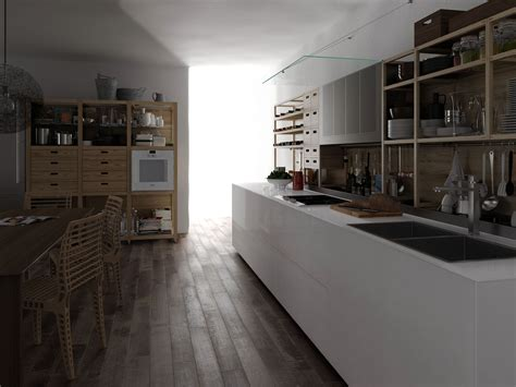 valcucine kitchen glass and wood fitted kitchen artematica vitrum