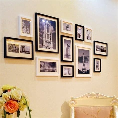 modern framed wall modern wooden photo picture frame wall collage set of 12
